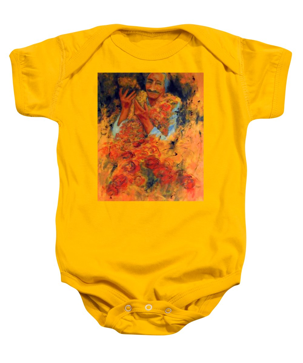 Meher Baba Paintings Baby Onesie featuring the painting Cornucopia Of Love by Joe DiSabatino