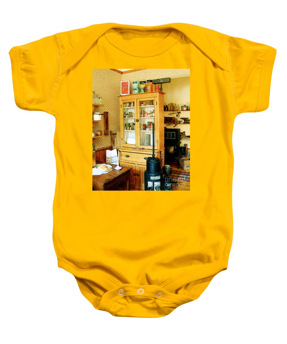 Antiques Baby Onesie featuring the painting Country Kitchen Sunshine IIi by RC DeWinter