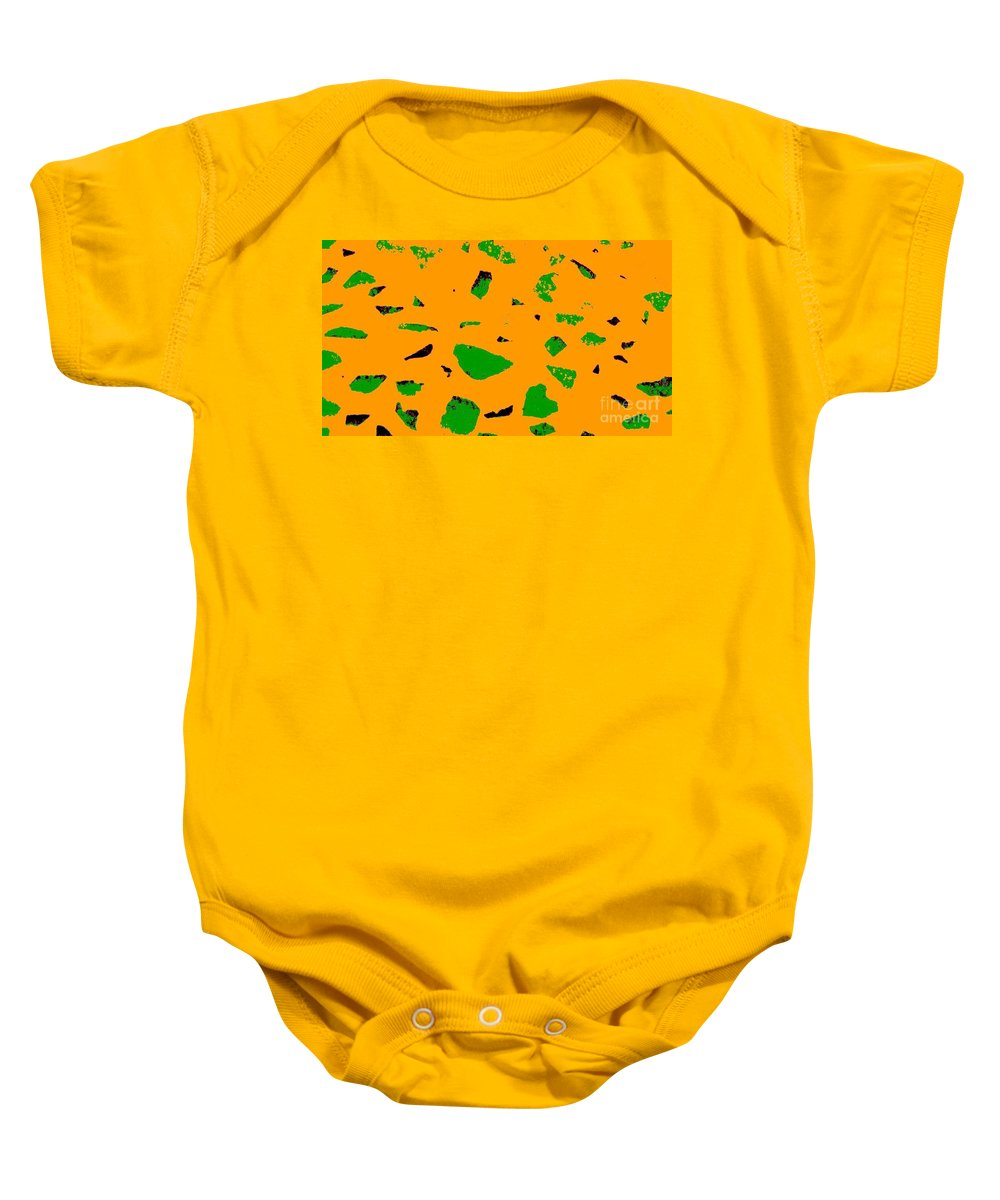 Creamsicle Baby Onesie featuring the photograph Creamsicle Orange Abstract by Eric Schiabor