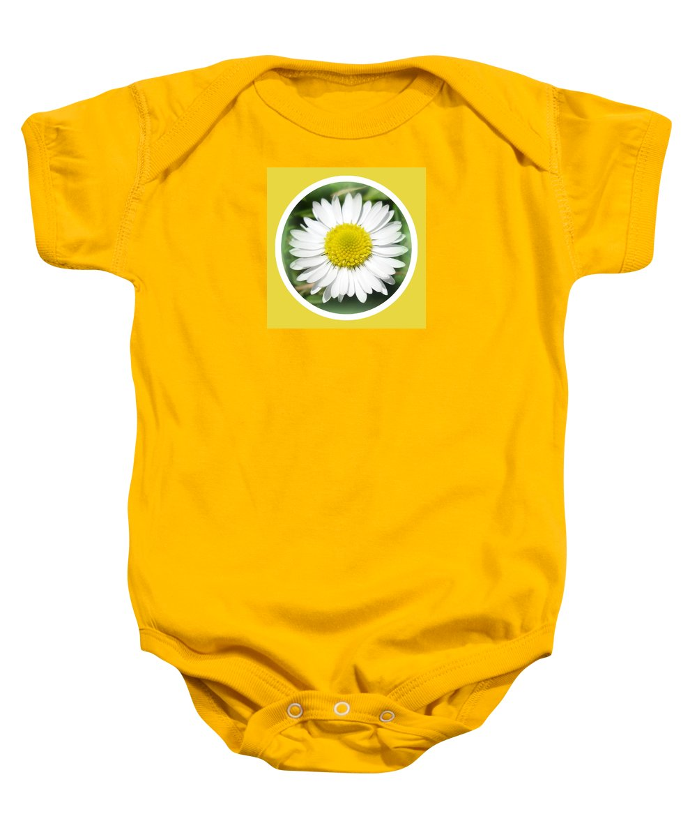 Daisy Baby Onesie featuring the photograph Daisy Closeup by The Creative Minds Art and Photography