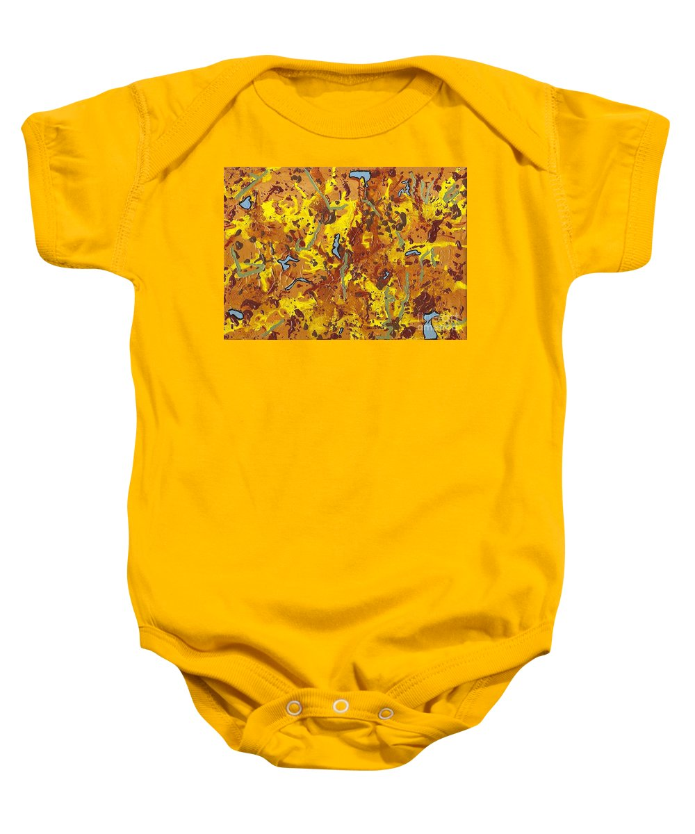 Abstract Baby Onesie featuring the painting Debacchatio by Vicki Maheu