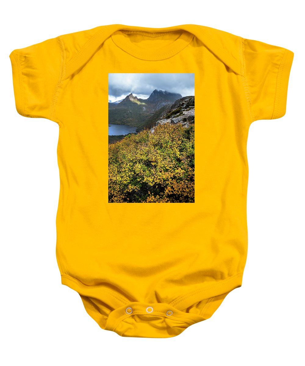 Lake St Clair National Park Baby Onesie featuring the photograph Deciduous Beech Or Fagus In Colour by Heath Holden