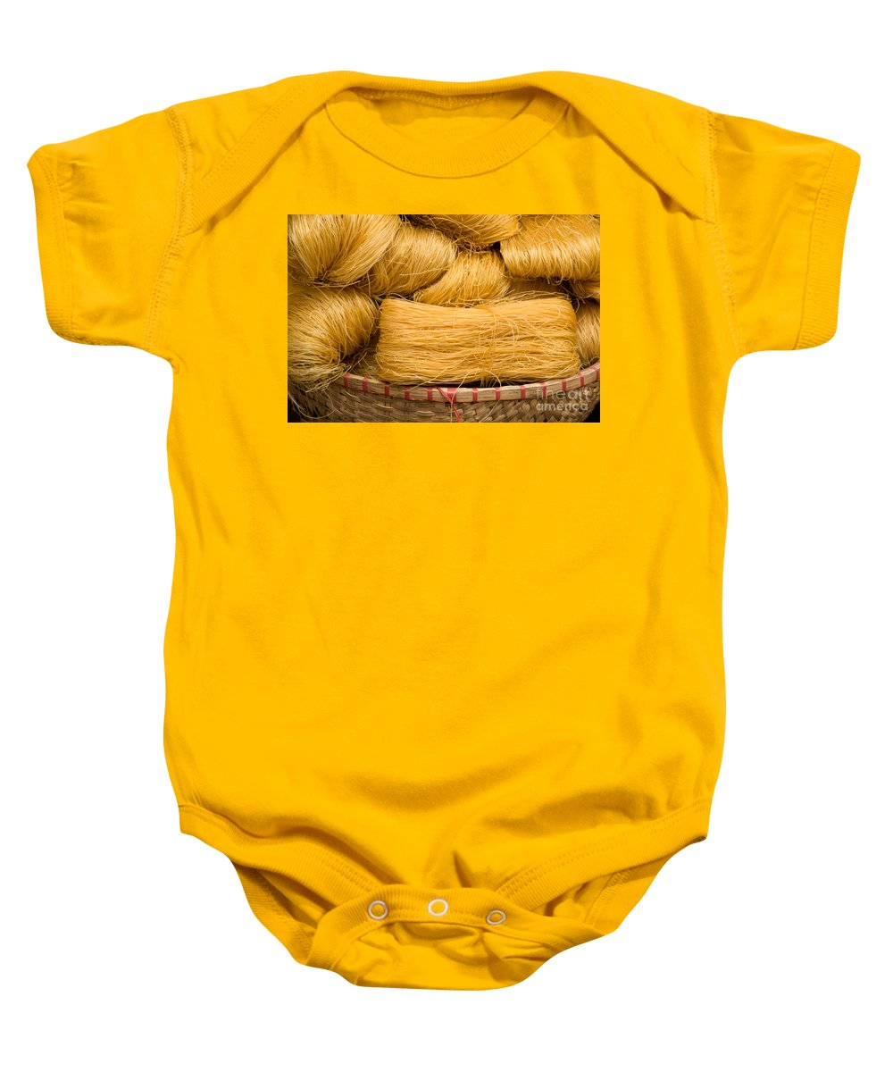 Vietnamese Baby Onesie featuring the photograph Dried Rice Noodles 04 by Rick Piper Photography