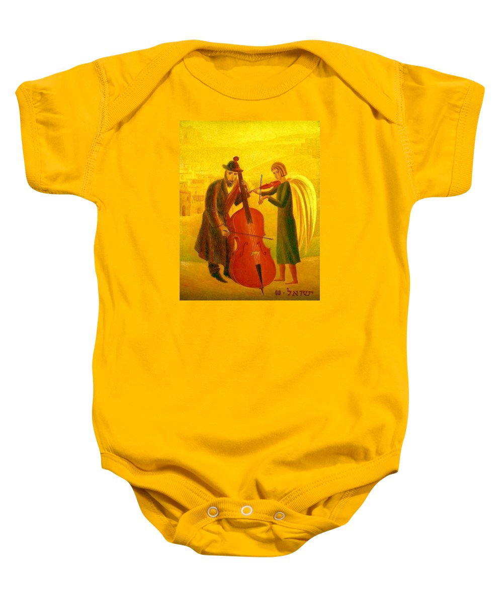 duets Baby Onesie featuring the painting Duet by Israel Tsvaygenbaum