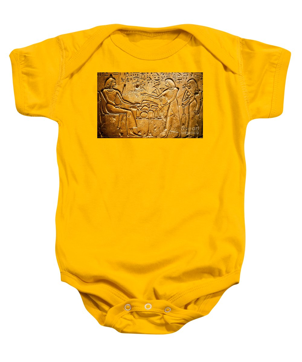 Egyptian Baby Onesie featuring the photograph Egyptian Hieroglyphics by Phill Petrovic
