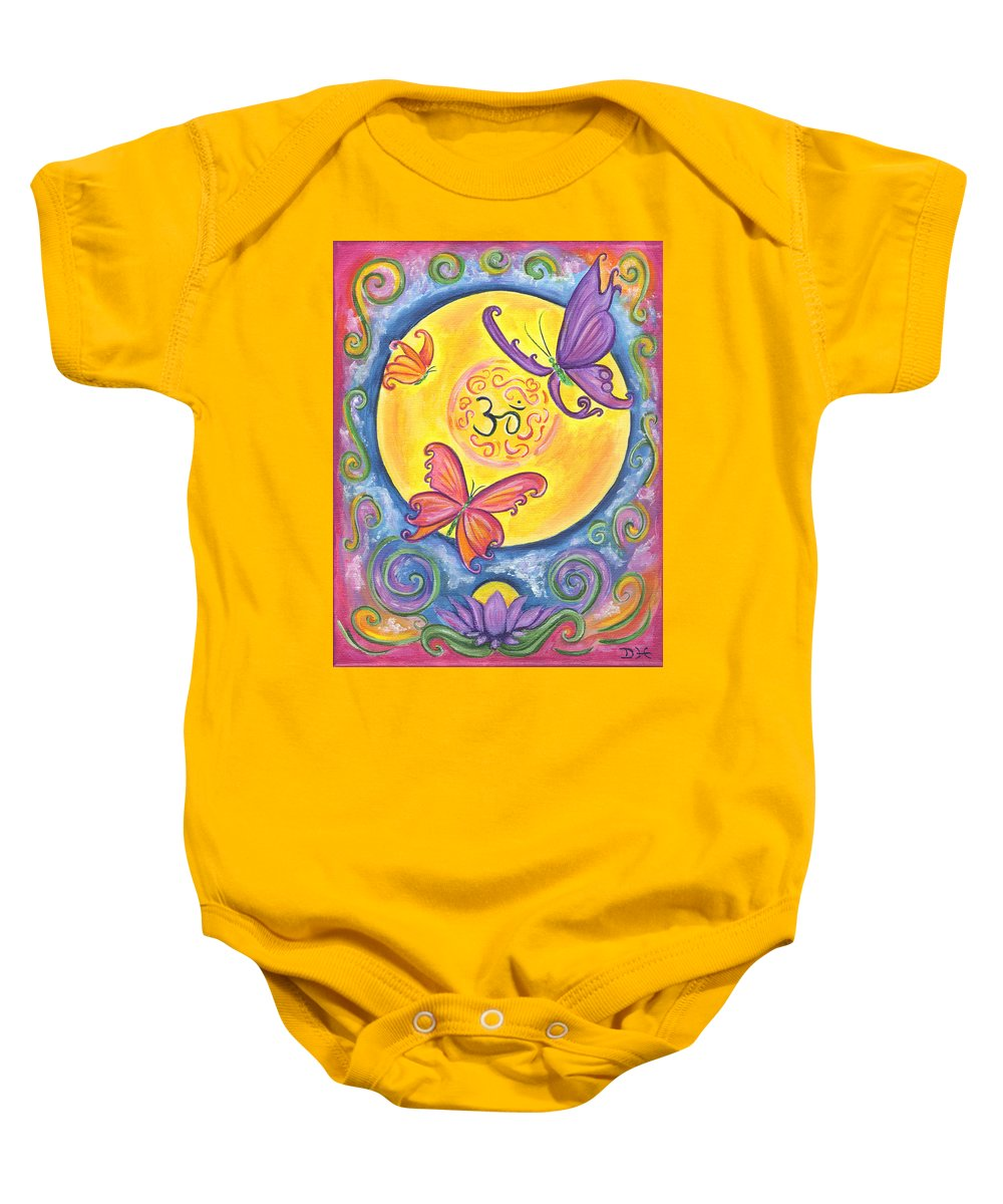 Enlightenment Baby Onesie featuring the painting Enlightenment by Diana Haronis