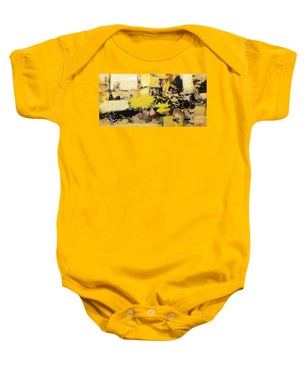 Landscape Baby Onesie featuring the painting Euclid by Allan P Friedlander