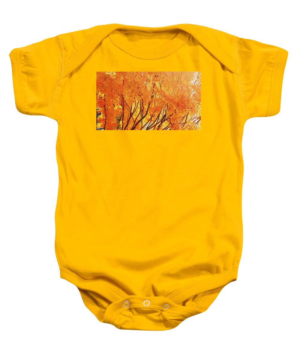 Nature Baby Onesie featuring the photograph Fall At The Shore by Eric Schiabor