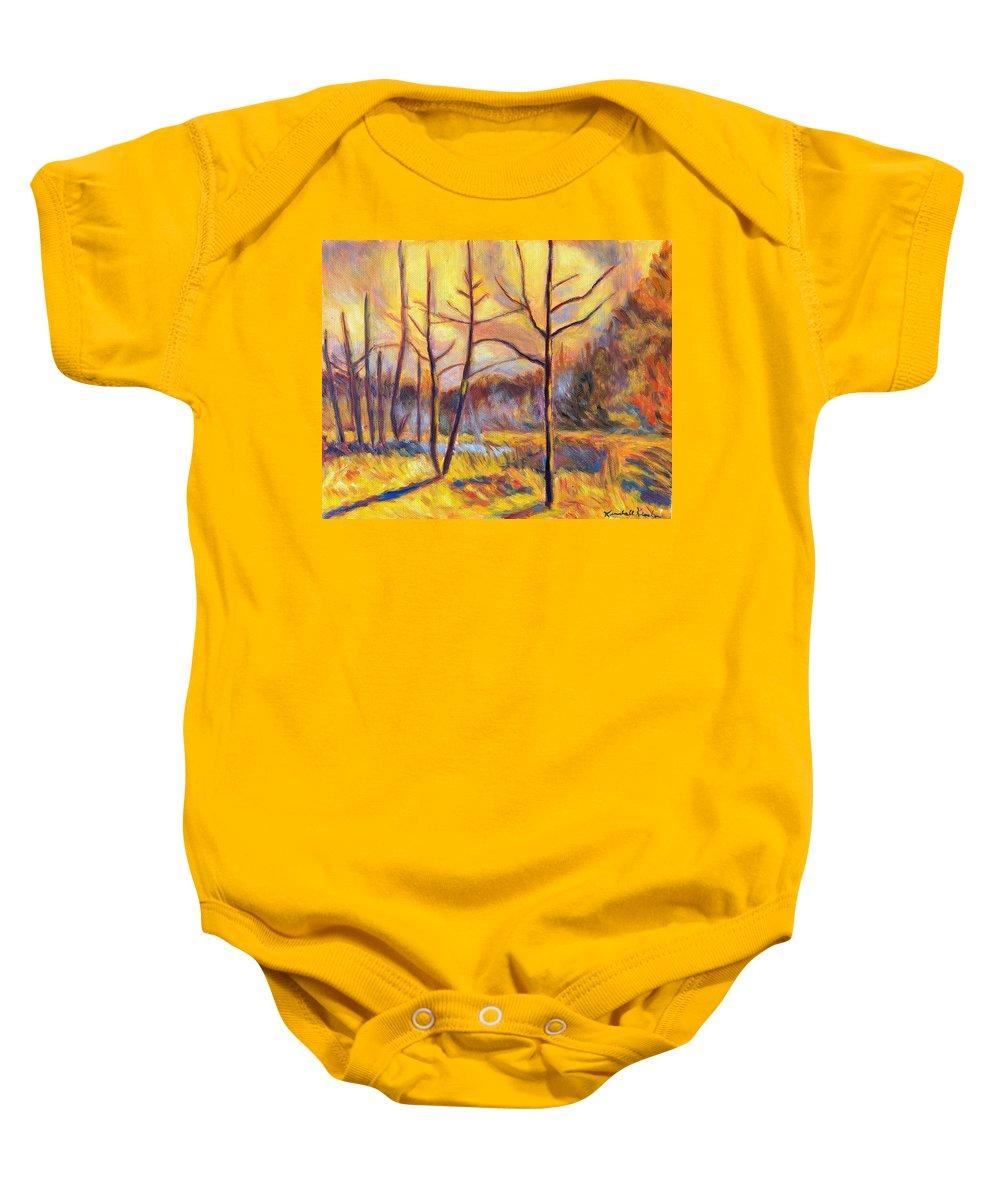 Landscape Baby Onesie featuring the painting Ferrum Sketch by Kendall Kessler