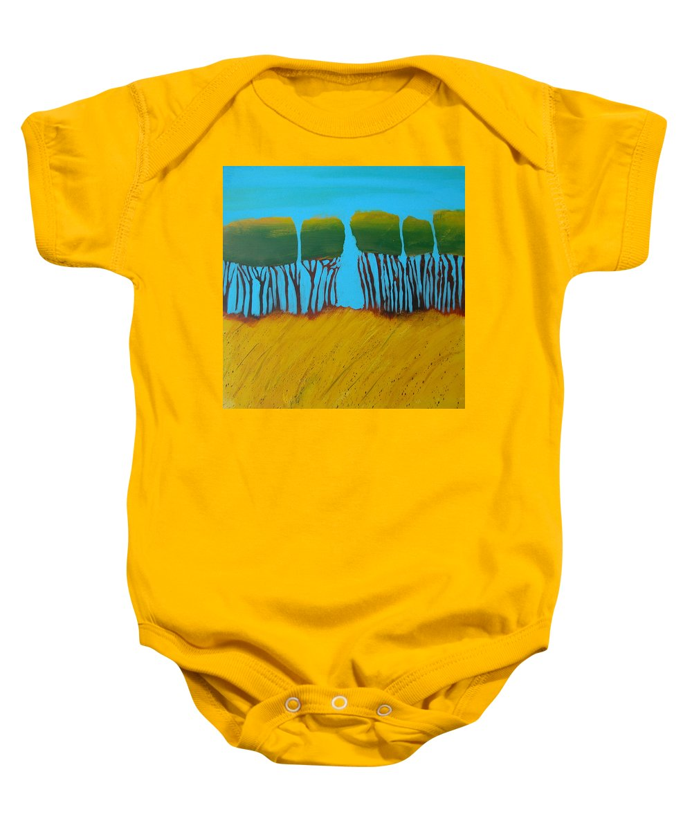 Landscape Baby Onesie featuring the painting Field 7 by Rhodes Rumsey