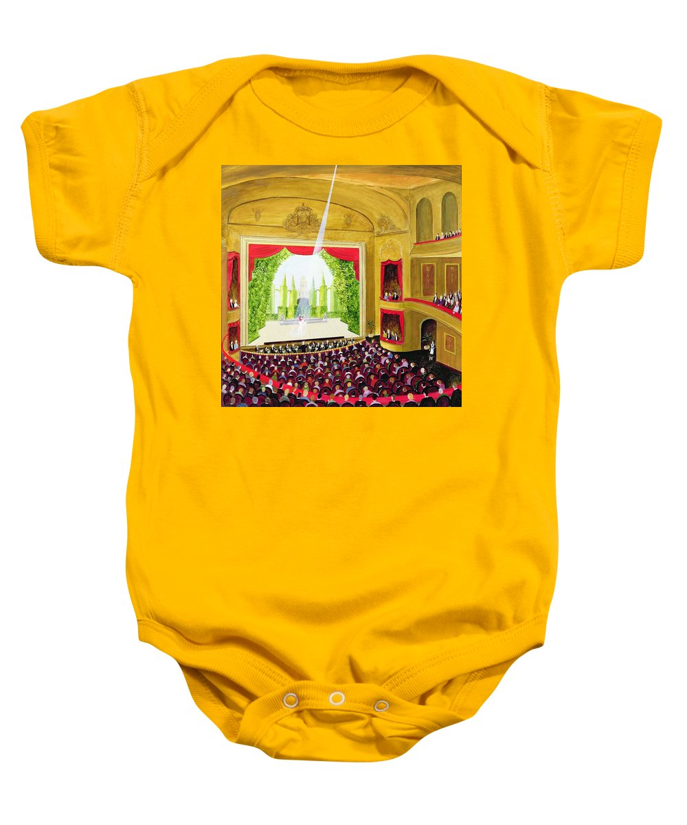 Interior Baby Onesie featuring the photograph First Night Oil On Board by Mark Baring