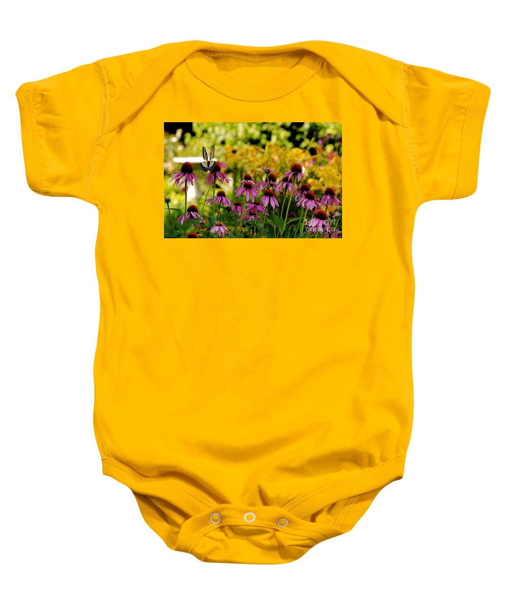 Butterfly Baby Onesie featuring the photograph Float Like A Butterfly by Lois Bryan