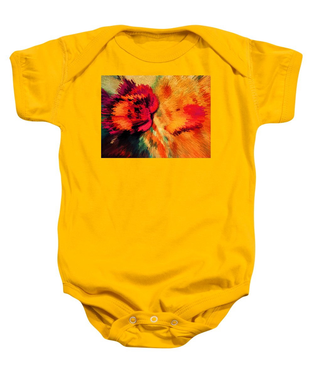 Abstract Baby Onesie featuring the photograph Floral Art Xxi by Tina Baxter