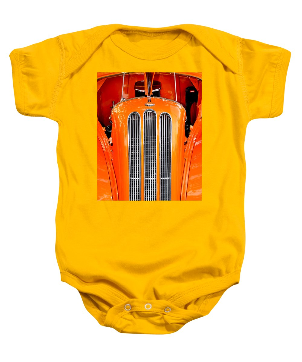Ford Anglia Baby Onesie featuring the photograph Ford Anglia Classic by Carolyn Marshall