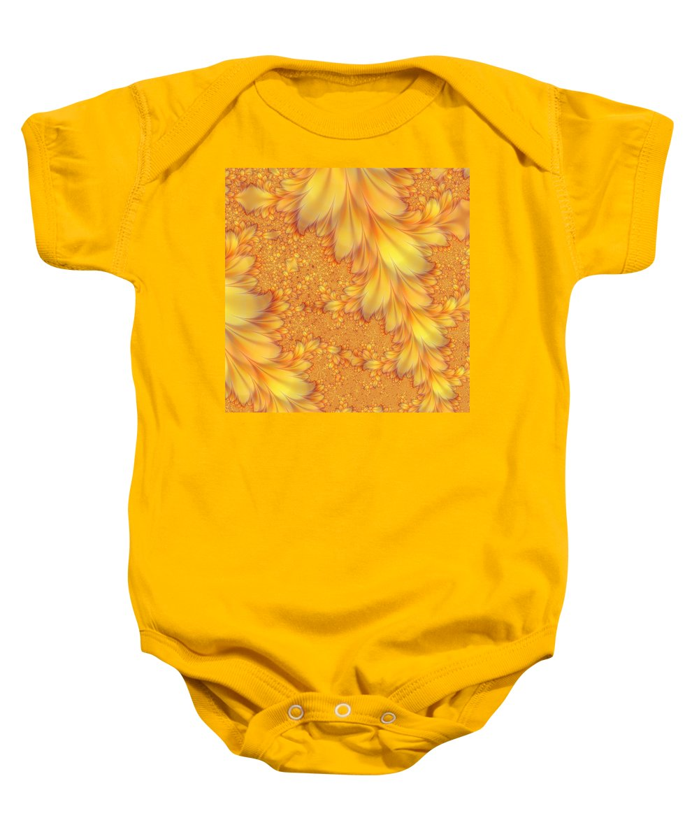 Feather Baby Onesie featuring the digital art Fractals Of A Feather by Fran Riley