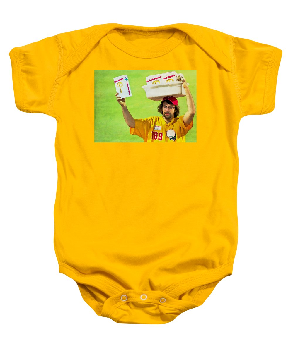 Baseball Baby Onesie featuring the photograph Fresh Popcorn by Alice Gipson