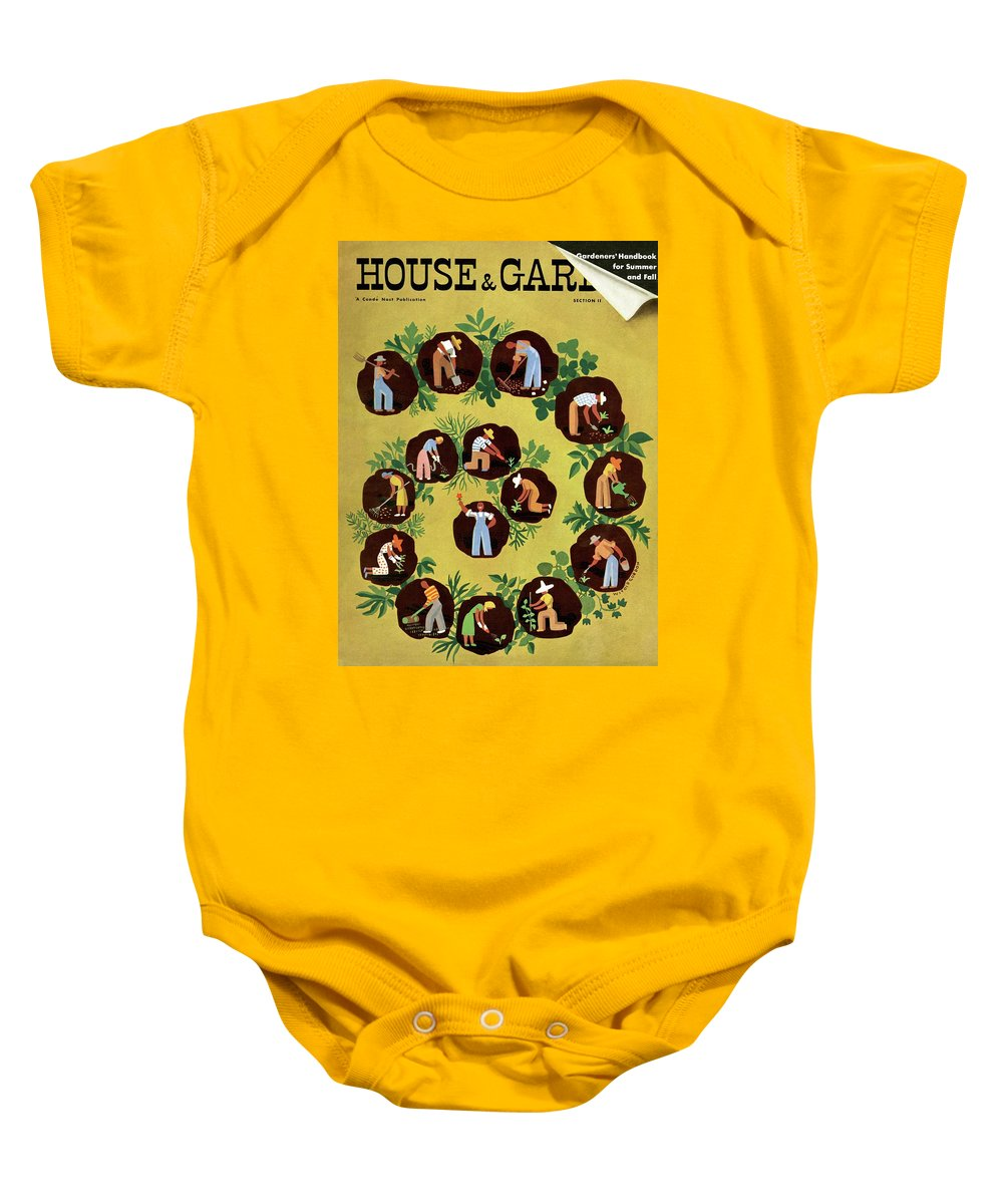 House And Garden Baby Onesie featuring the photograph Gardeners And Farmers by Witold Gordon
