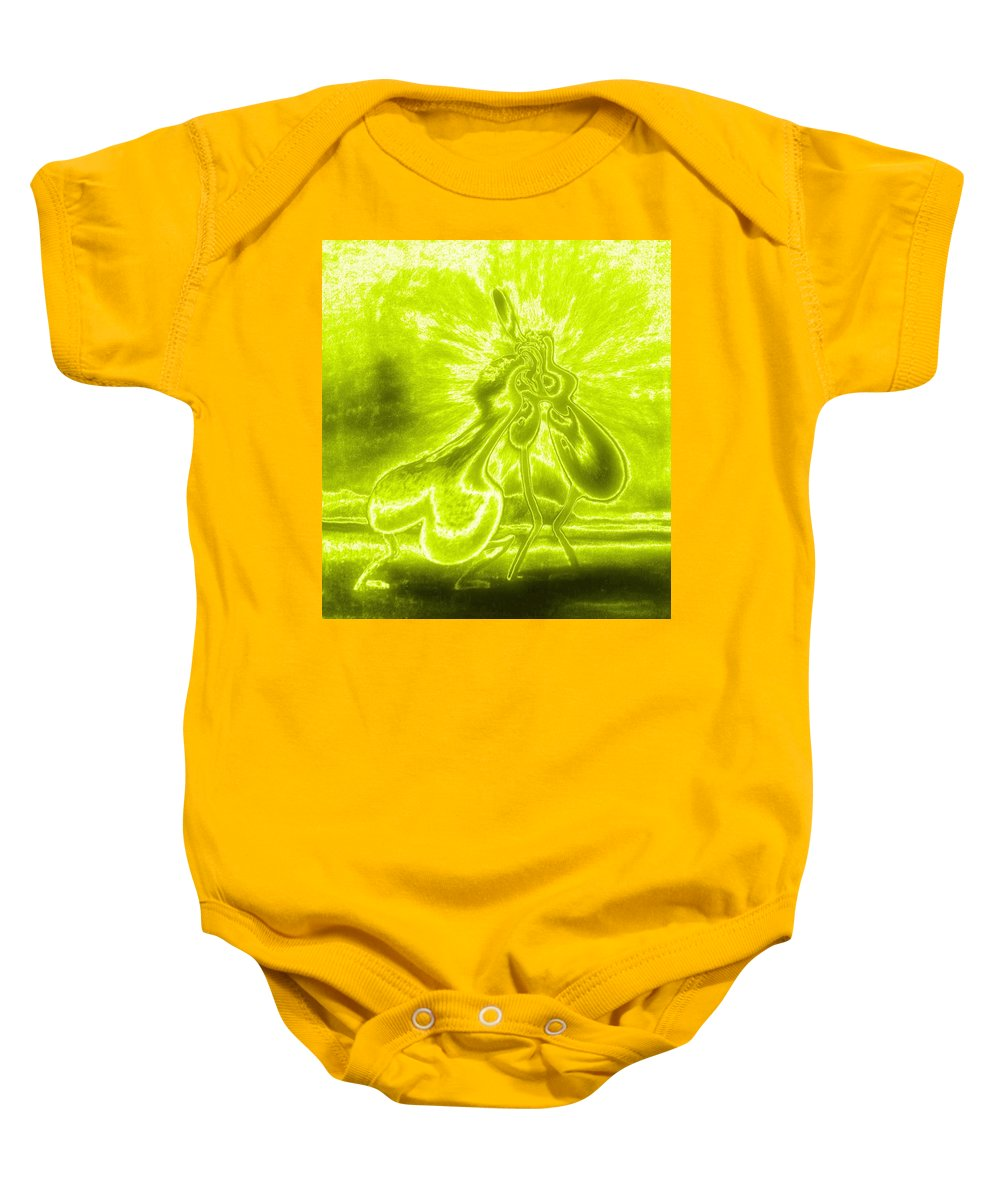 Genio Baby Onesie featuring the mixed media Giddy Action by Genio GgXpress