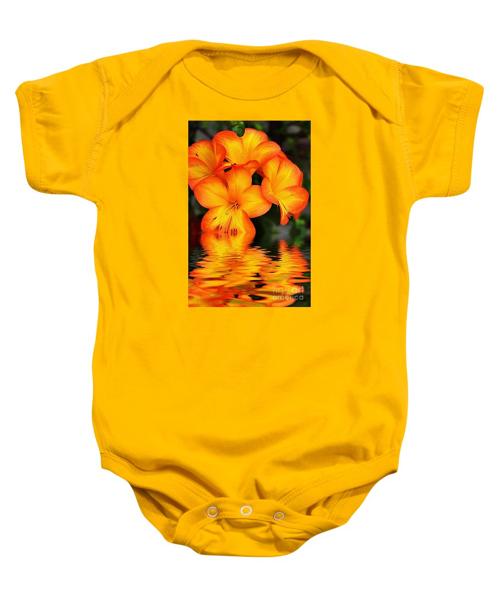 Photography Baby Onesie featuring the photograph Golden Dreams by Kaye Menner