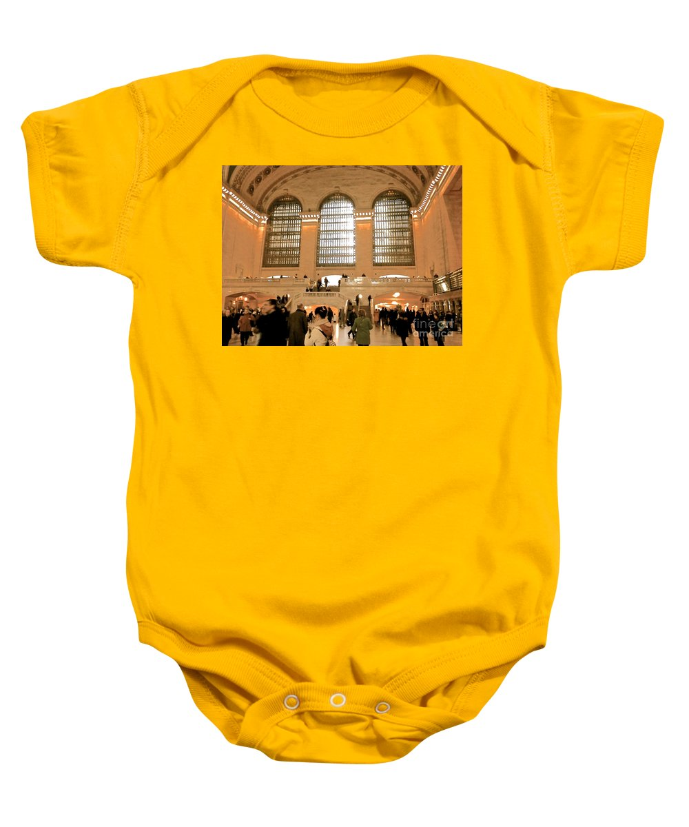 Grand Central Baby Onesie featuring the photograph Grand Central 's Main Terminal by Christy Gendalia