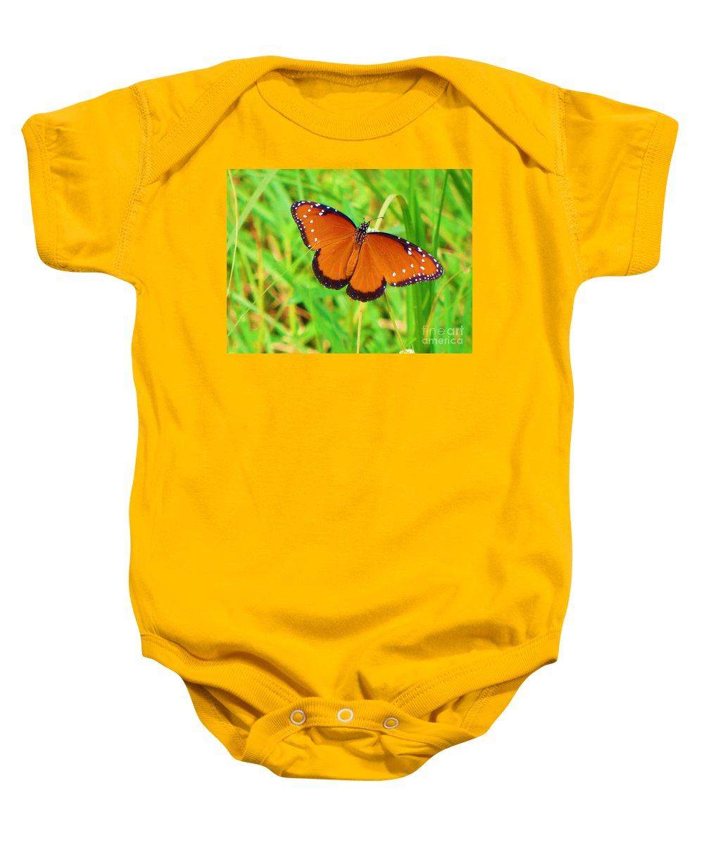 Kerisart Baby Onesie featuring the photograph Grand Monarch by Keri West