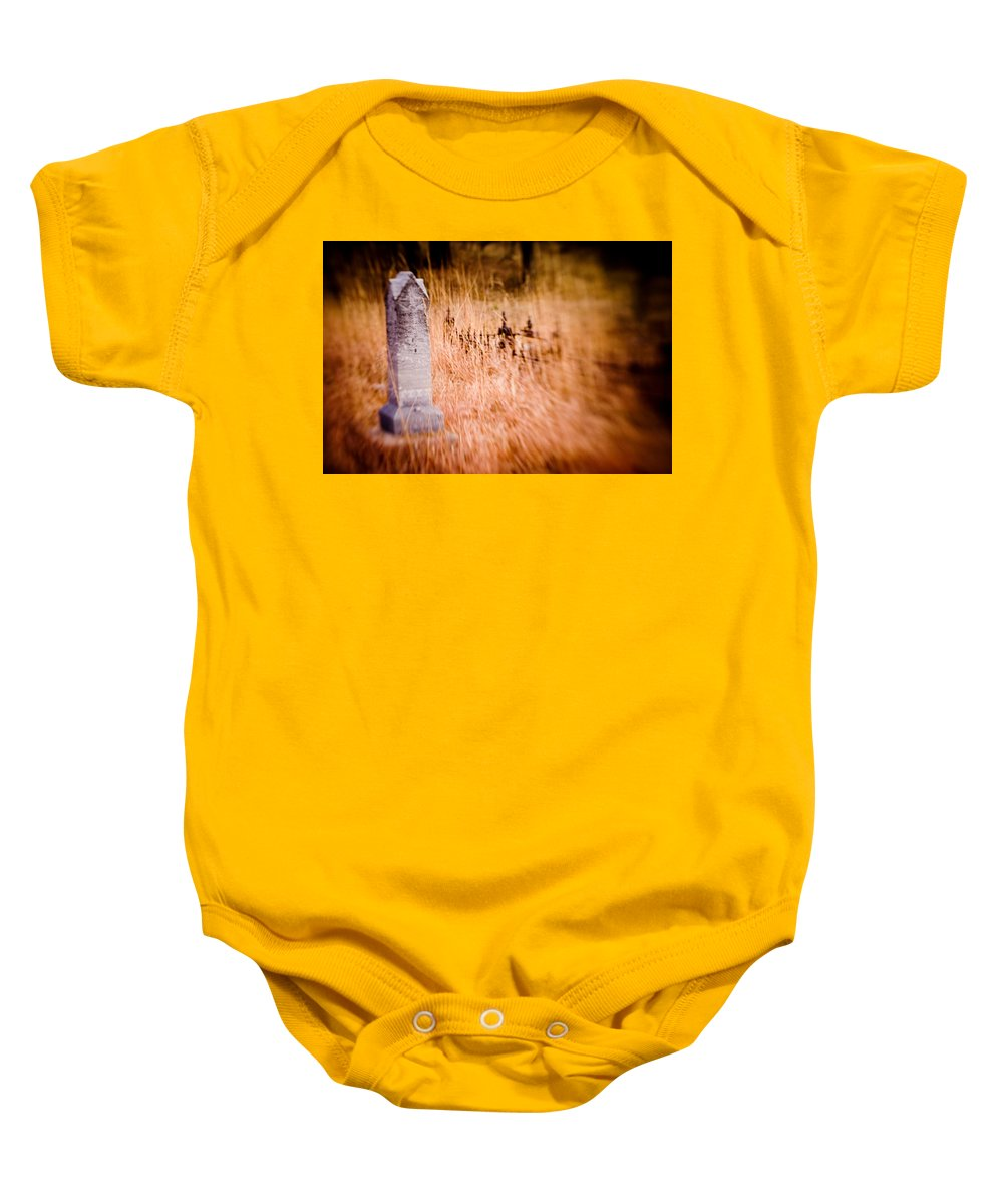 Color Baby Onesie featuring the photograph Graveyard 6792 by Timothy Bischoff