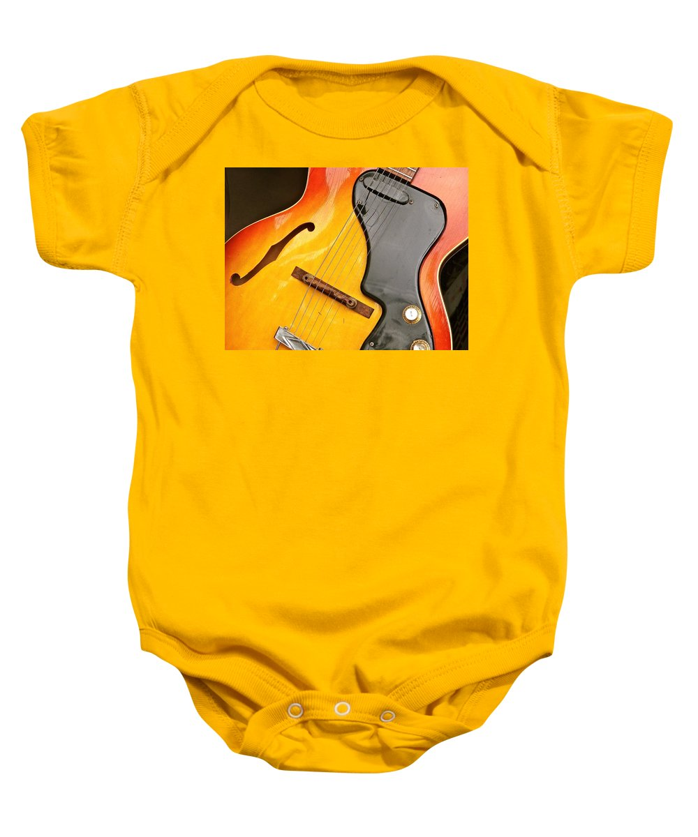 Guitars Baby Onesie featuring the photograph Great Guitars by Ira Shander