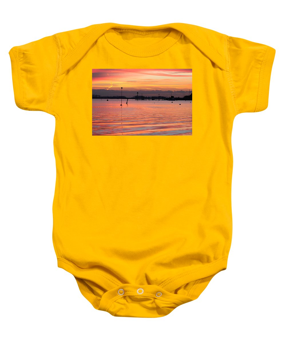 Emsworth Baby Onesie featuring the photograph Hampshire Sunset by Robert Phelan