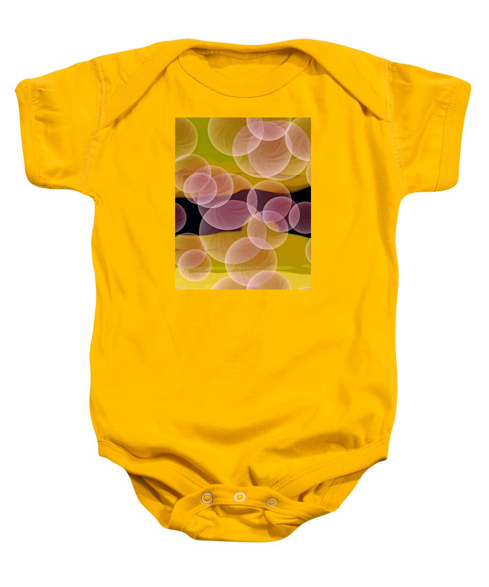 Happiness Baby Onesie featuring the digital art Happiness by Lillian Hibiscus