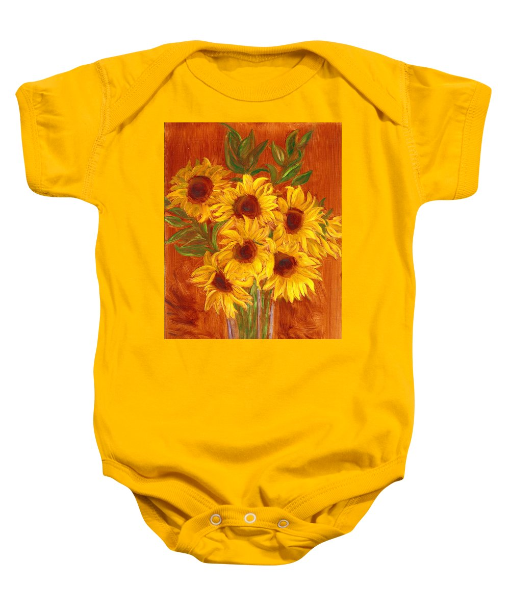 Still Life Baby Onesie featuring the painting Happy Mother's Day by Paula Emery