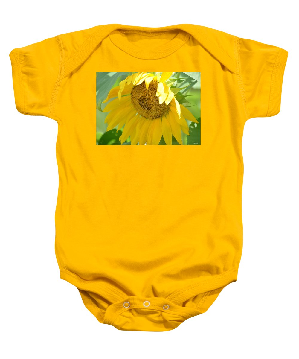 Heart Full Of Gold Baby Onesie featuring the photograph Heart Full Of Gold by Maria Urso