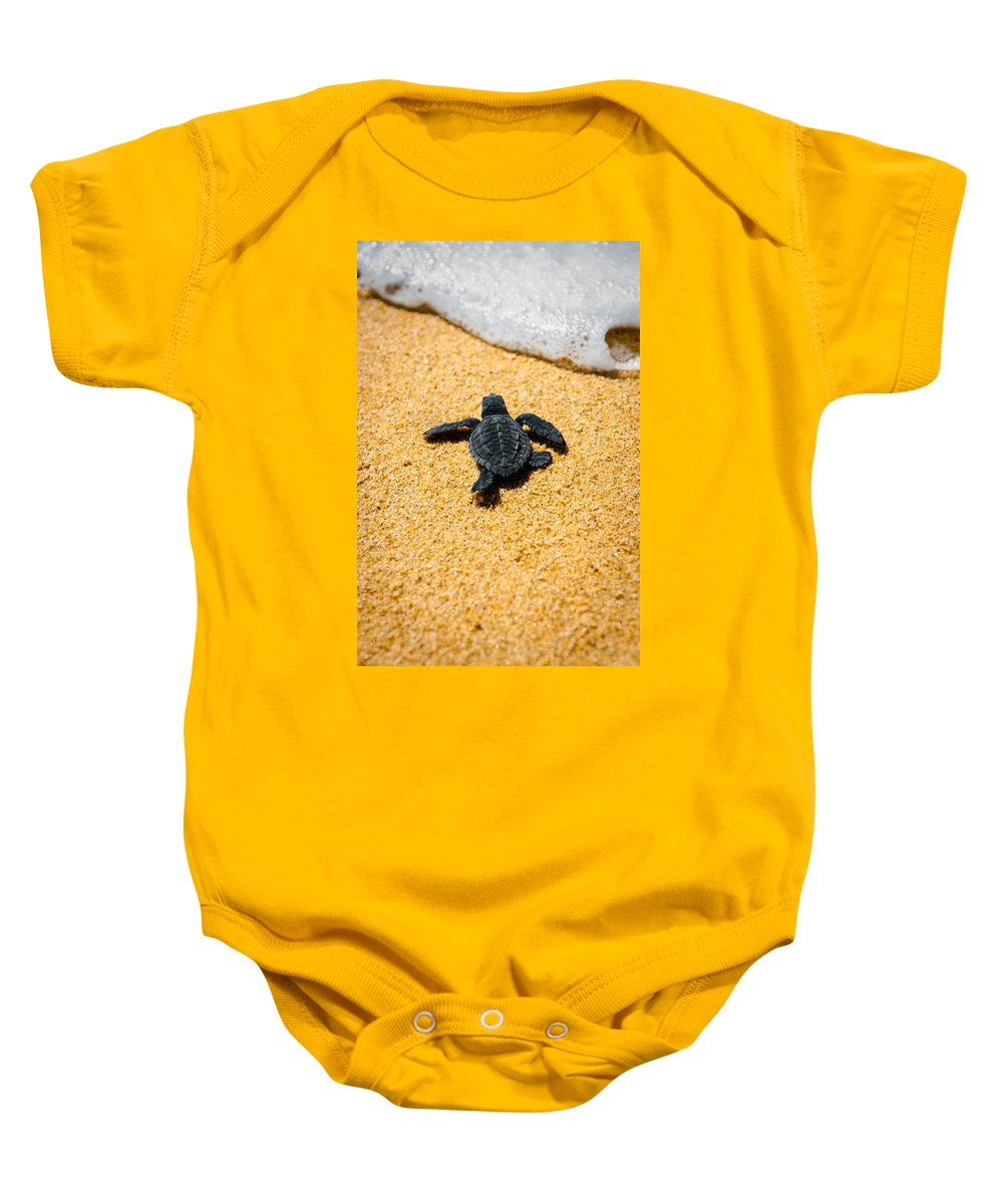 Baby Loggerhead Baby Onesie featuring the photograph Home by Sebastian Musial