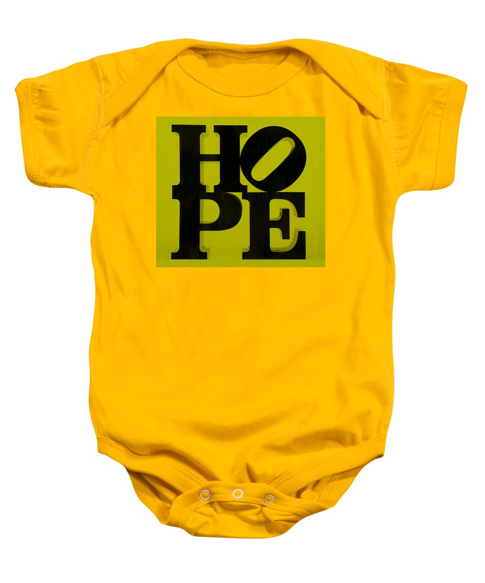 Hope Baby Onesie featuring the photograph Hope In Yellow by Rob Hans