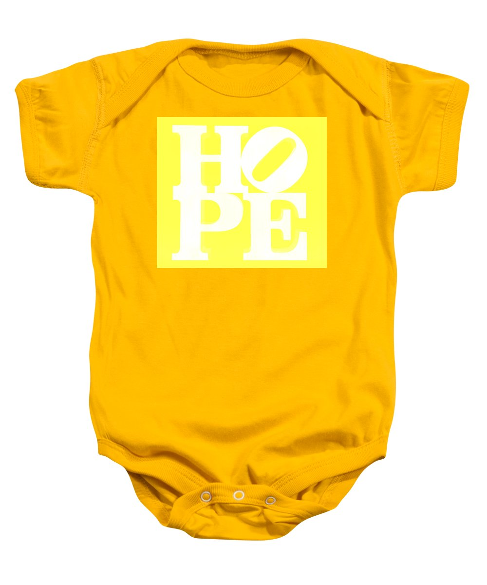 Hope Baby Onesie featuring the photograph Hope Inverted Yellow by Rob Hans