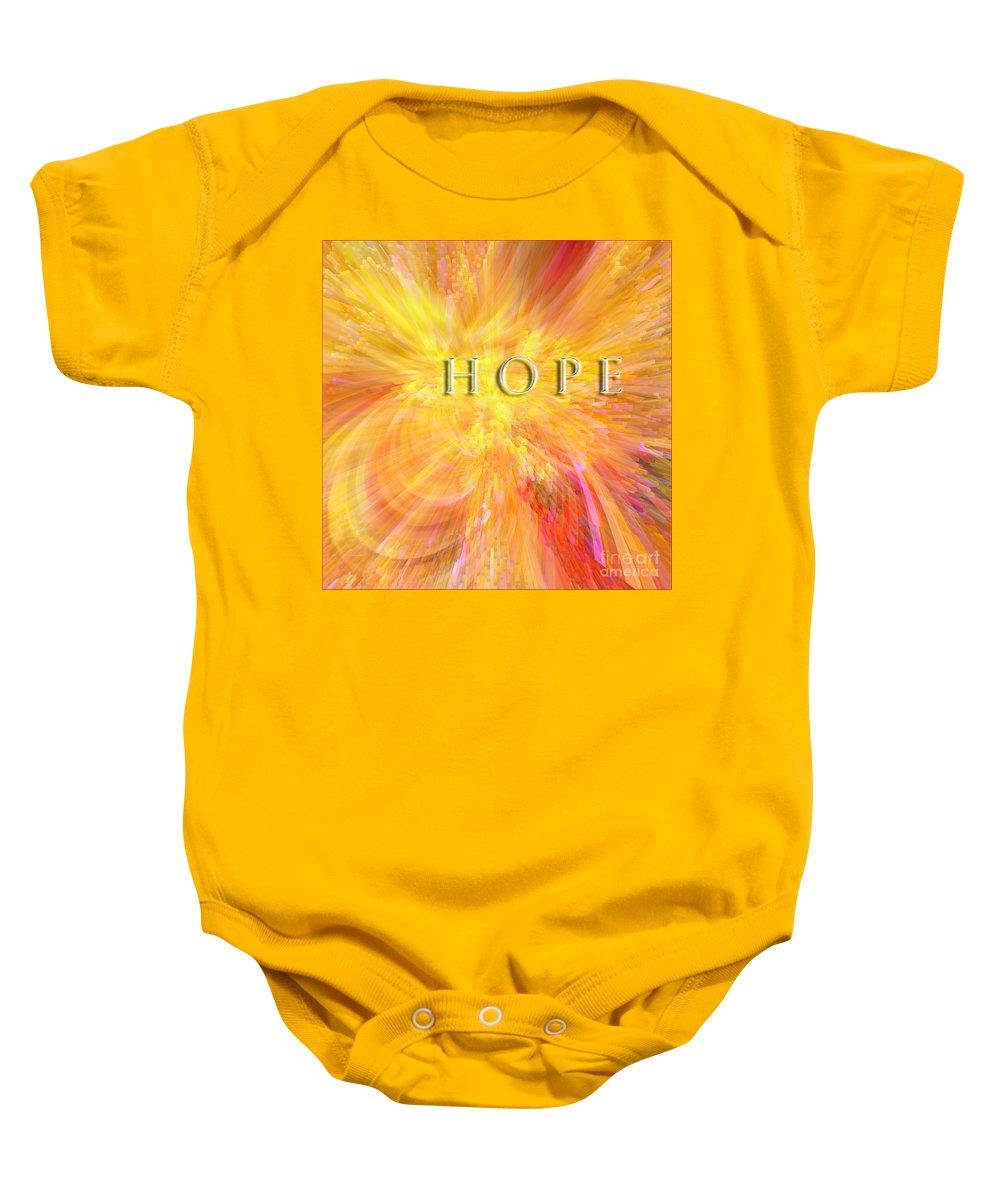 Hope Baby Onesie featuring the digital art Hope by Margie Chapman