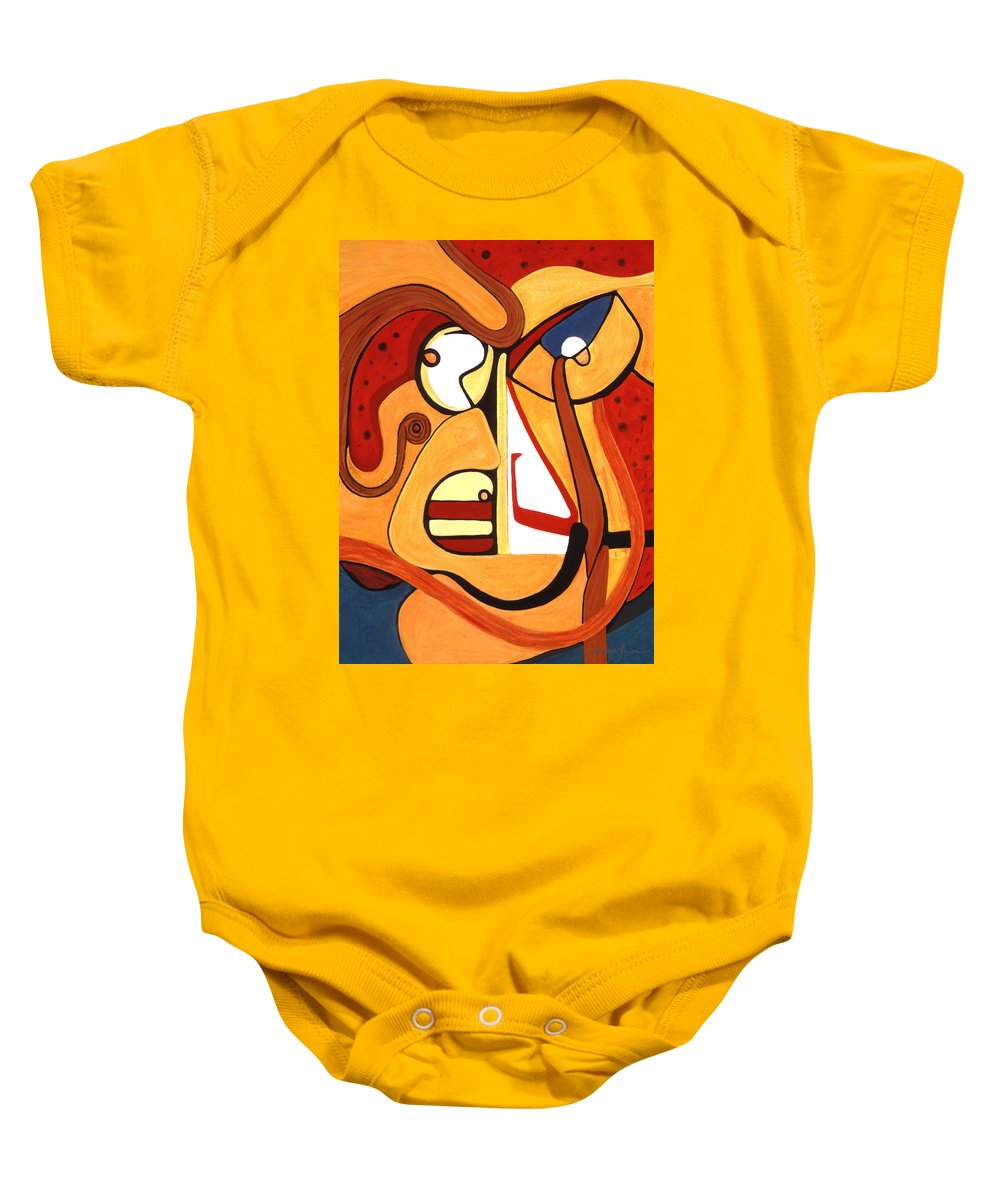 Abstract Art Baby Onesie featuring the painting Illuminatus 2 by Stephen Lucas
