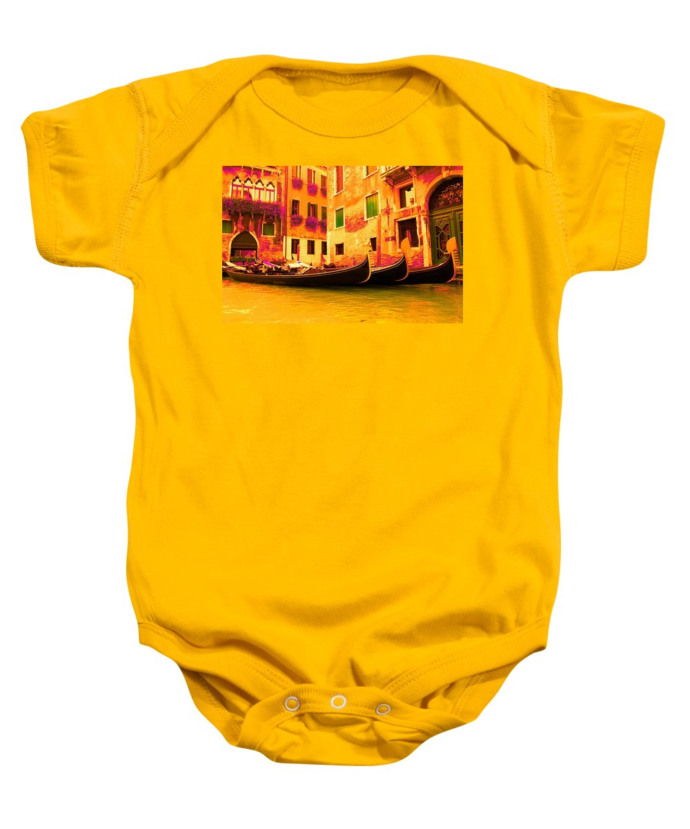 Impressionism Baby Onesie featuring the digital art Impressionistic Photo Paint Gs 007 by Catf