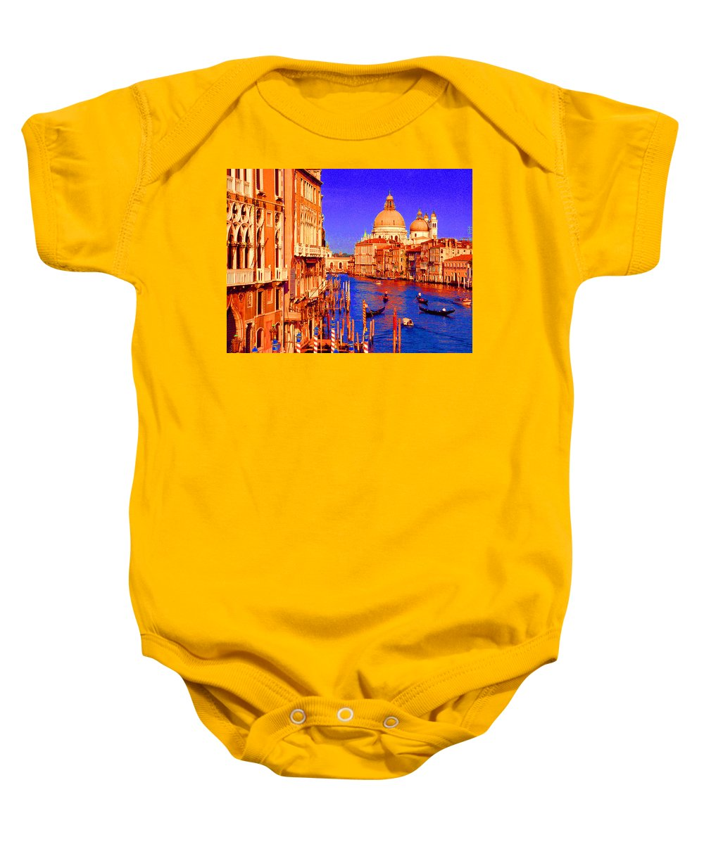 Baby Onesie featuring the digital art Impressionistic Photo Paint Gs 014 by Catf