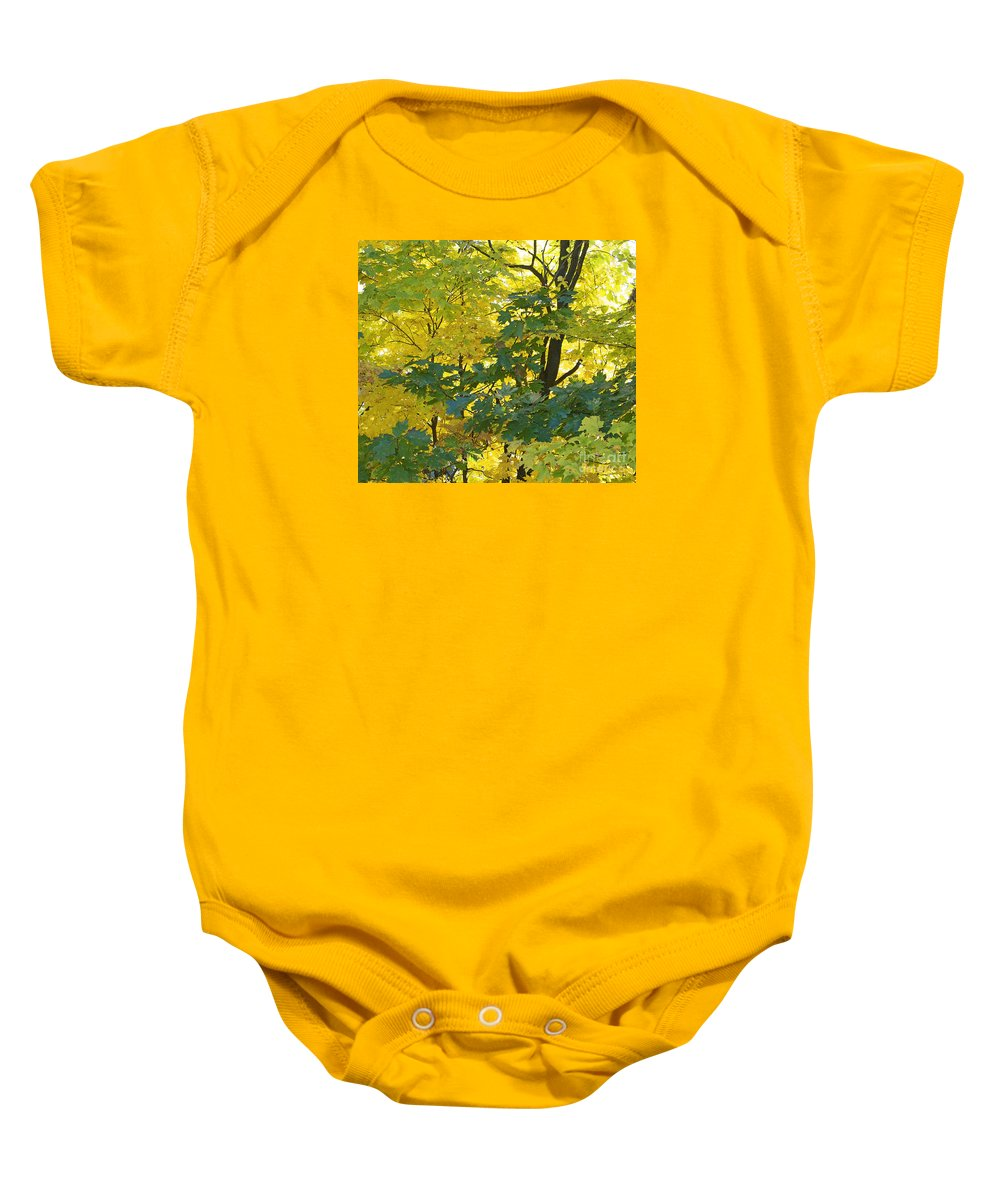 Autumn Baby Onesie featuring the photograph In Due Time by Ann Horn