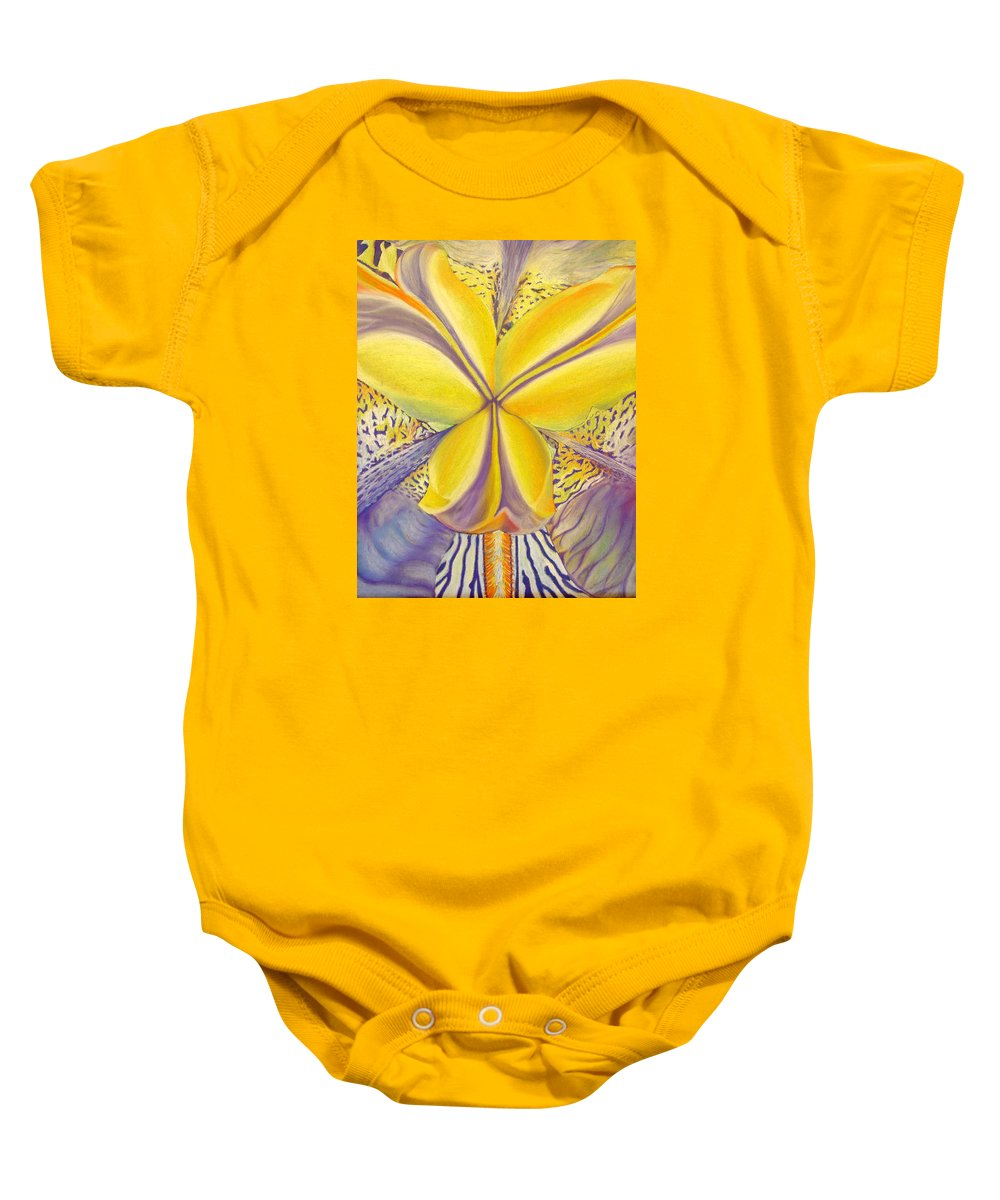Flower Baby Onesie featuring the drawing Iris by Joshua Morton