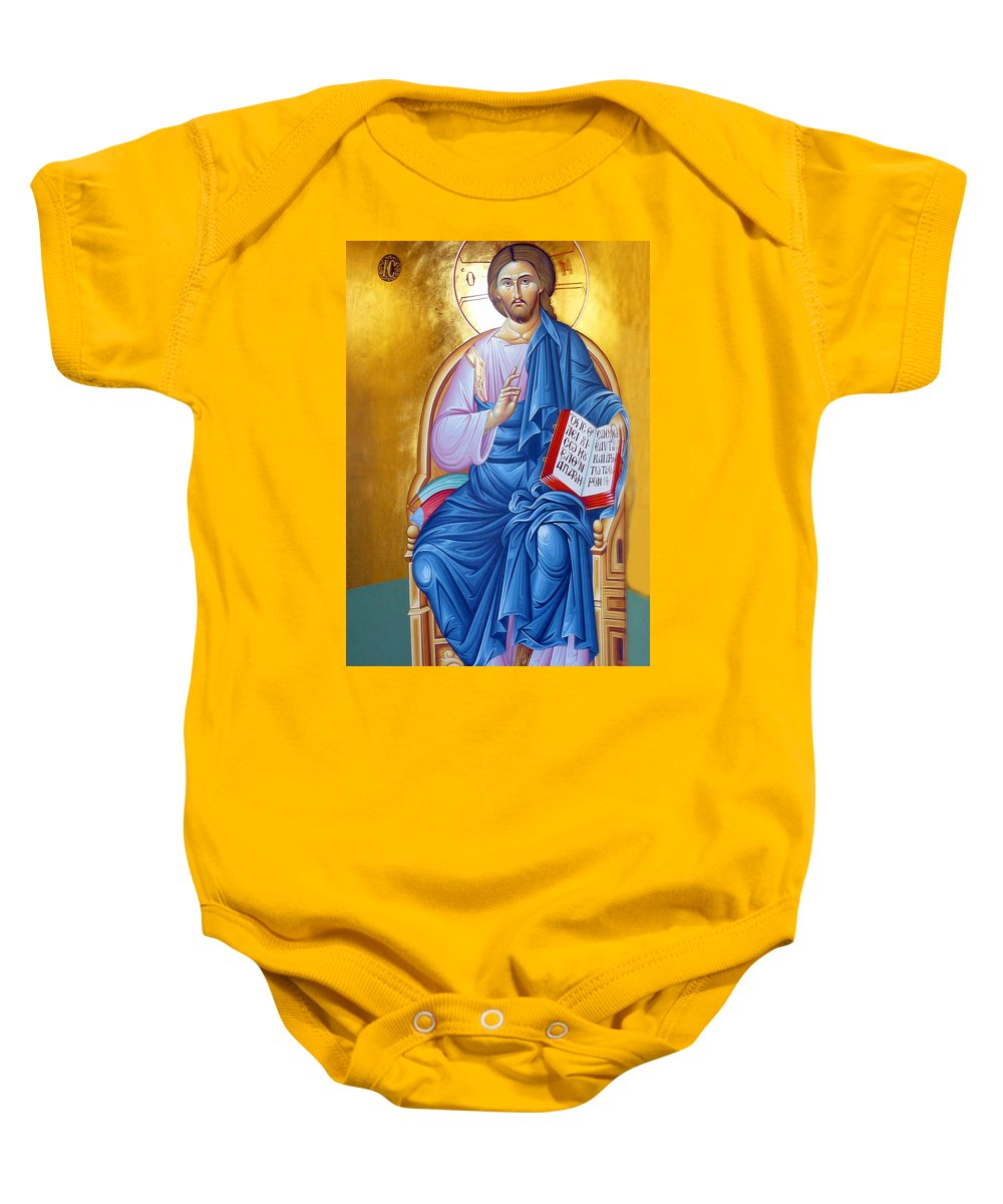 Jesus Baby Onesie featuring the photograph Jesus Holy Trinity by Munir Alawi