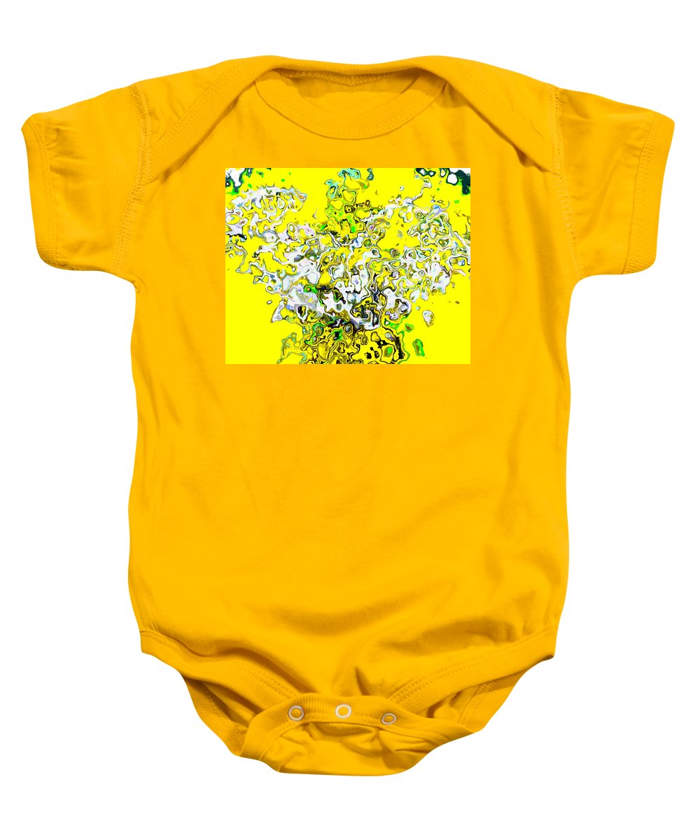 Bright Baby Onesie featuring the painting Joy by Cliff Wilson