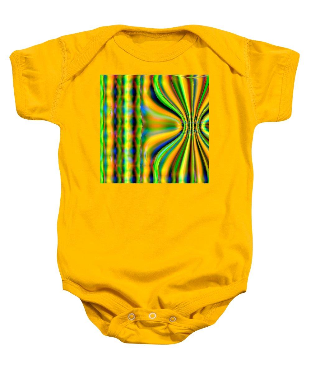 Abstract Baby Onesie featuring the digital art Lahi by John Holfinger