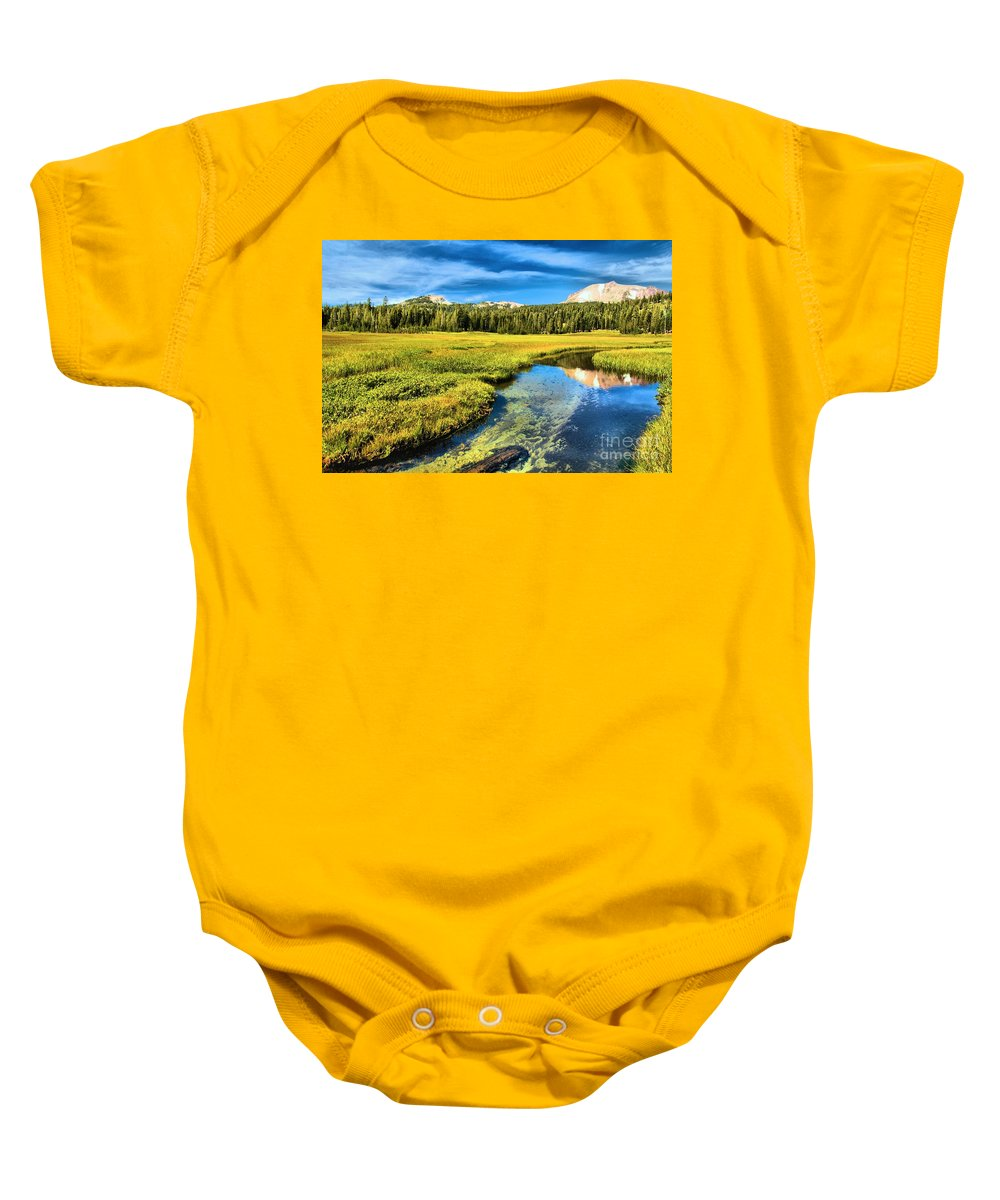 Lassen Volcanic National Park Baby Onesie featuring the photograph Lassen Reflections by Adam Jewell