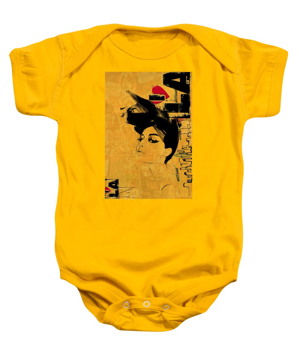 Los Angeles Baby Onesie featuring the painting Los Angeles Collage 2 by Corporate Art Task Force