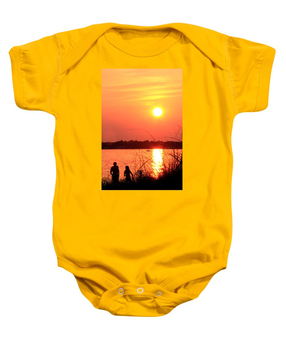 Mood Baby Onesie featuring the photograph Love You by Mark Ashkenazi
