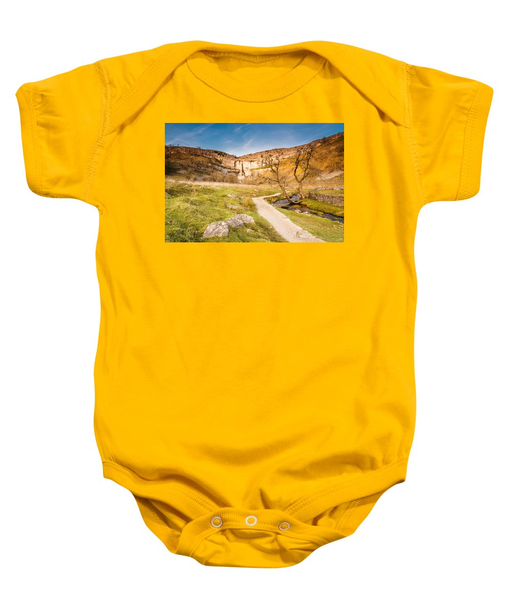 Attraction Baby Onesie featuring the photograph Malham Cove In Malhamdale by David Head