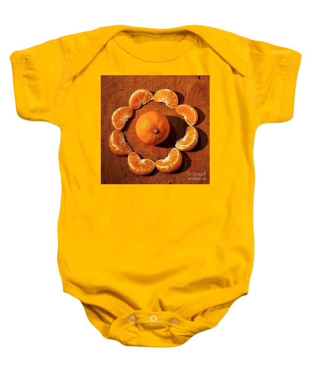 Photography Baby Onesie featuring the photograph Mandarin by Kaye Menner
