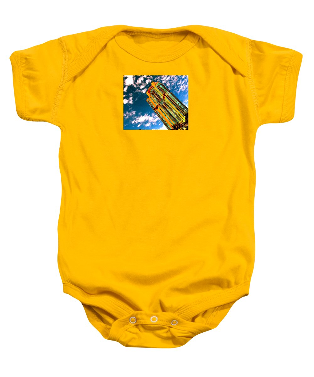Miami Prints Baby Onesie featuring the photograph Miami South Pointe by Monique's Fine Art