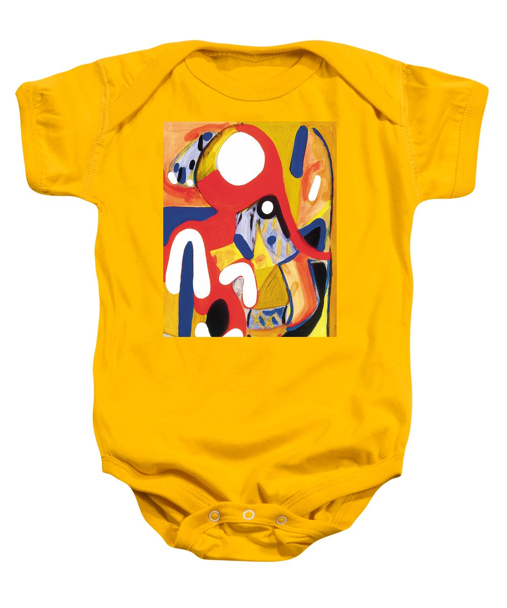 Abstract Art Baby Onesie featuring the painting Mirror Of Me 2 by Stephen Lucas